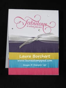Fabulous Fringe Scissors, www.laurasStampPad.com