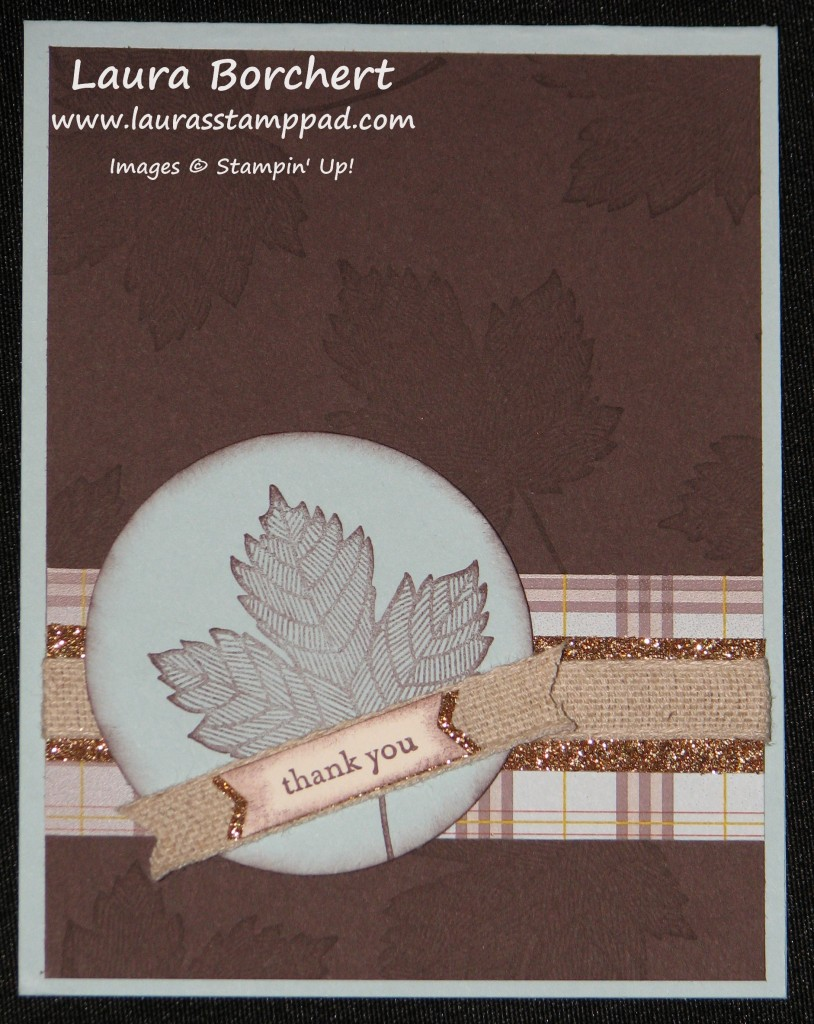 Gold Glimmer Magnificent Maple Stamp, www.LaurasStampPad.com