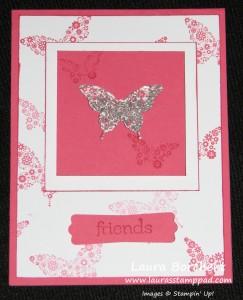 Butterfly Shaker Card, www.LaurasStampPad.com