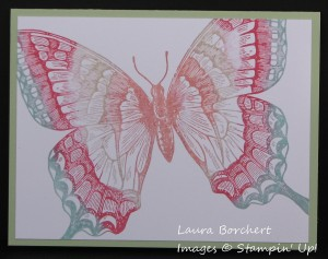 Multi Colored Butterfly, www.LaurasStampPad.com