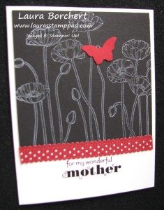 Poppy Butterfly Card www.laurasstamppad.com