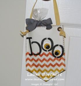 Boo Banner Bag, www.LaurasStampPad.com