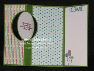 Flip Flop Card, www.LaurasStampPad.com