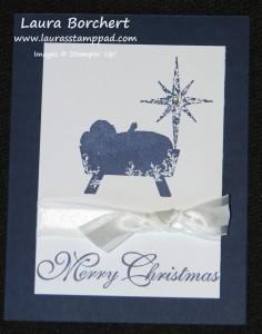 Manger Christmas Card, www.LaurasStampPad.com