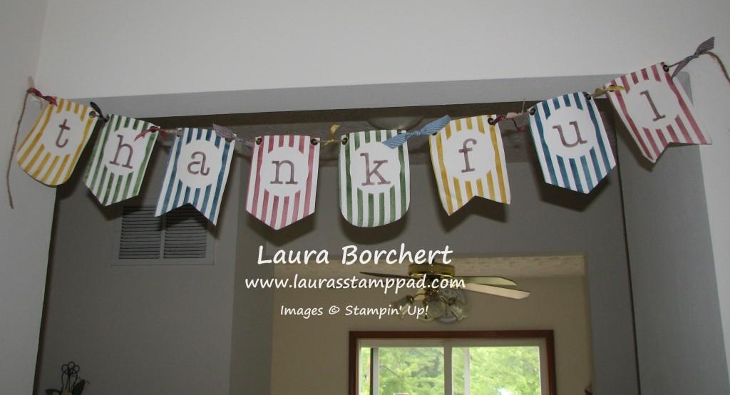 Thankful Banner, www.LaurasStampPad.com