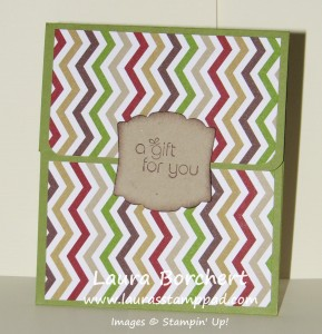 Gift Card Holder, www.LaurasStampPad.com