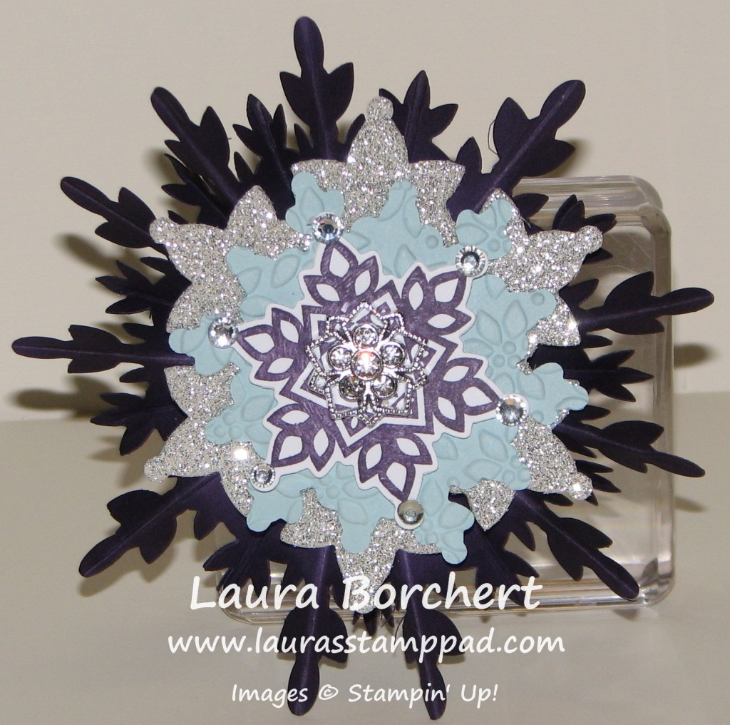 Snowflake Ornament, www.LaurasStampPad.com