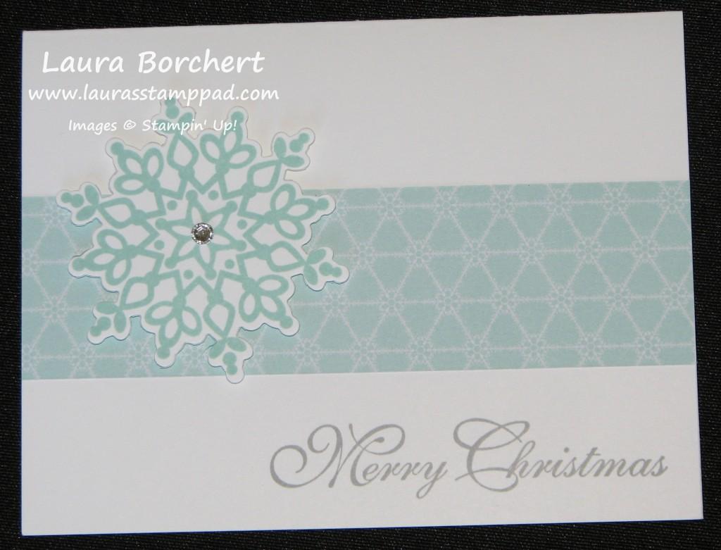 Festive Flurry Card, www.LaurasStampPad.com