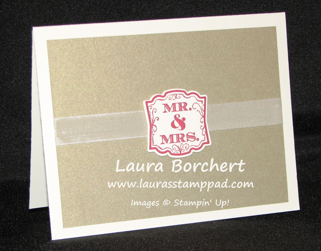Wedding Card, www.LaurasStampPad.com