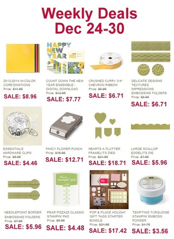 Weekly Deals, www.LaurasStampPad.com