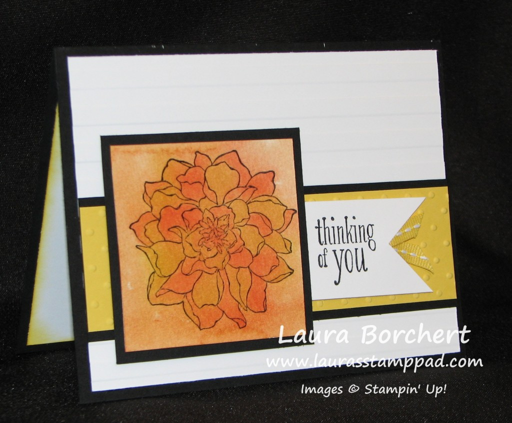 Watercolor Flower Card, www.LaurasStampPad.com
