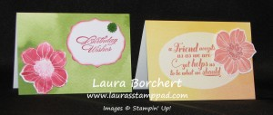 Watercolor Notecards, www.LaurasStampPad.com