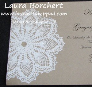Wedding Invitation, www.LaurasStampPad.com