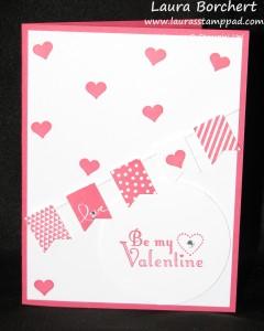 Be My Valentine, www.LaurasStampPad.com
