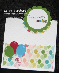 Flip Flap Birthday Card, www.LaurasStampPad.com
