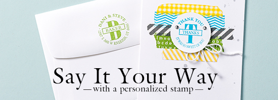 New Personalized Stamp, www.LaurasStampPad.com