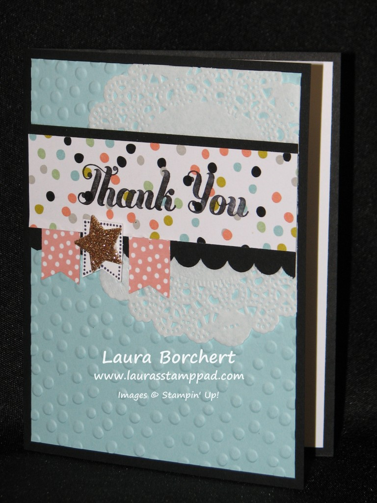 Thank You Card, www.LaurasStampPad.com