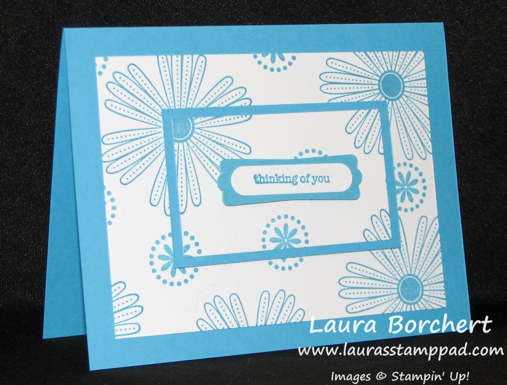 Thinking of You Card, www.LaurasStampPad.com