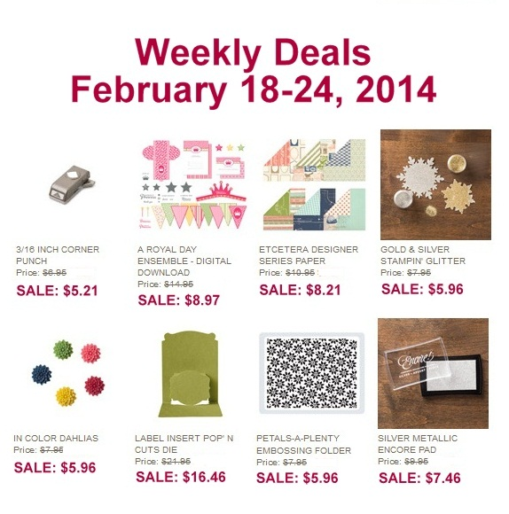 WeeklyDeals_Feb18_US, www.LaurasStampPad.com