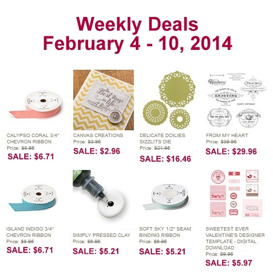 WeeklyDeals, www.LaurasStampPad.com