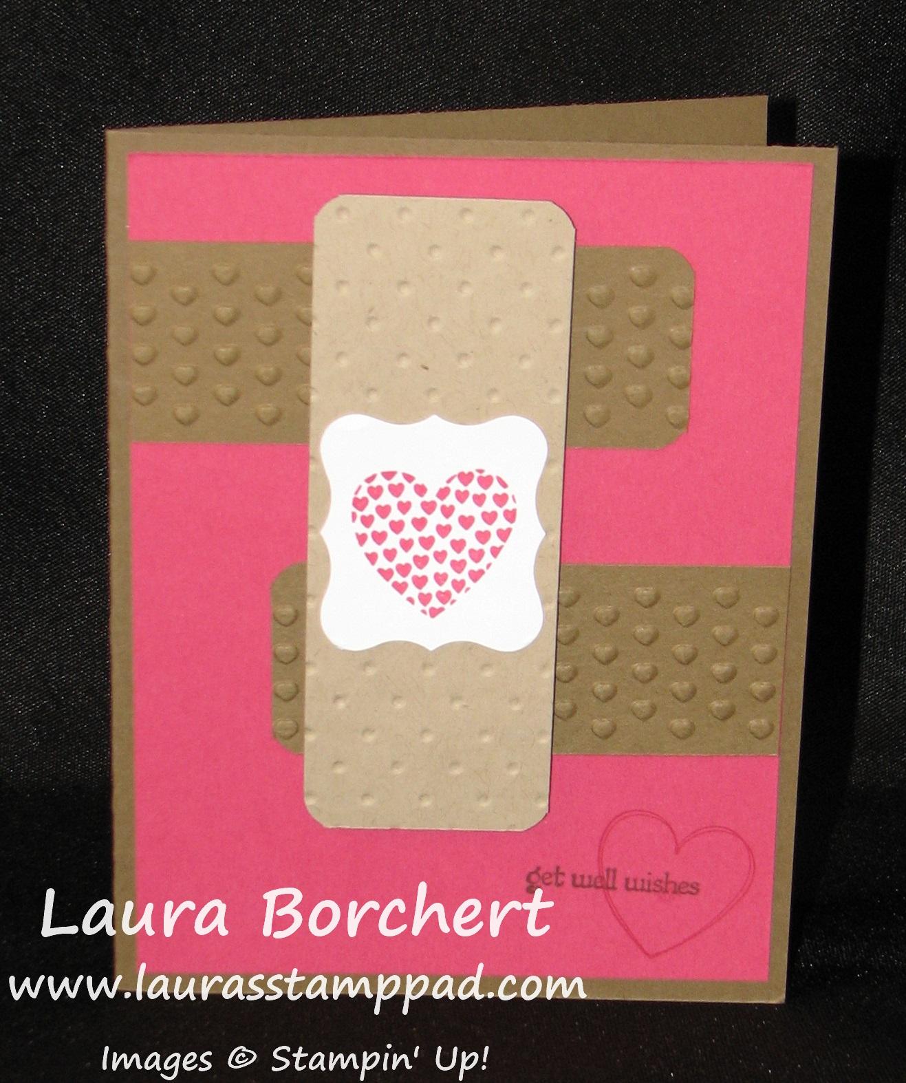 Bandaid Card, www.LaurasStampPad.com