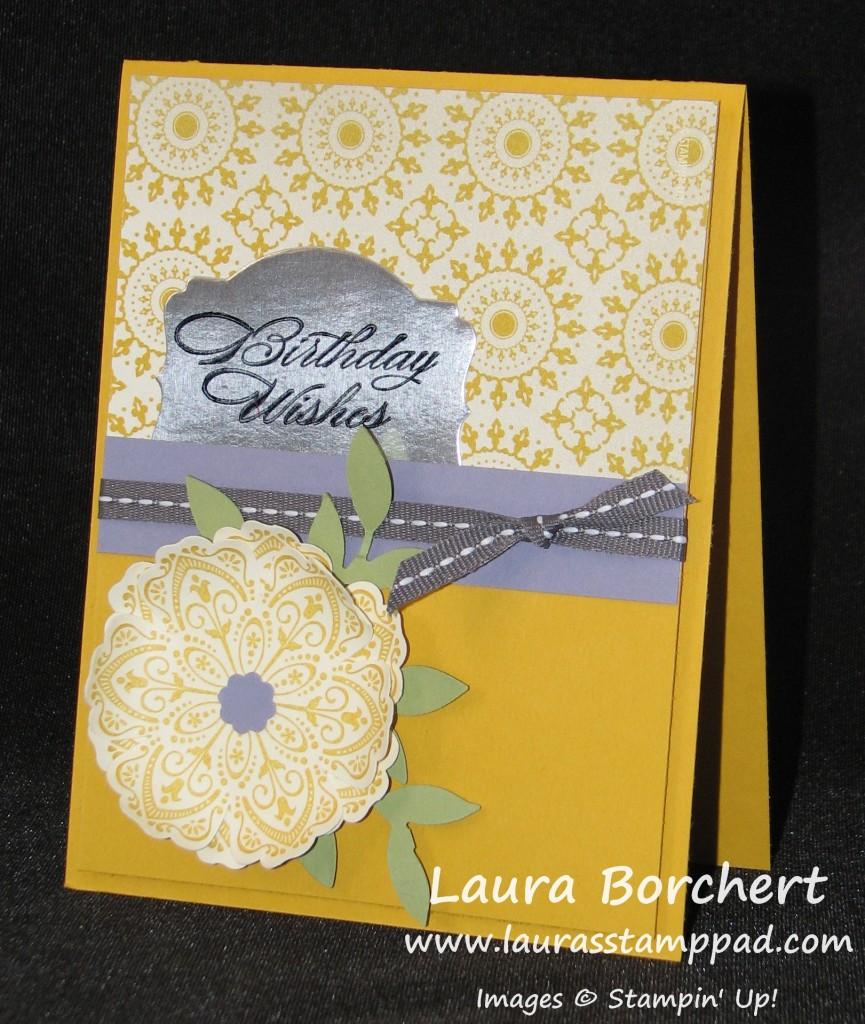 Foil Greeting Frame, www.LaurasStampPad.com