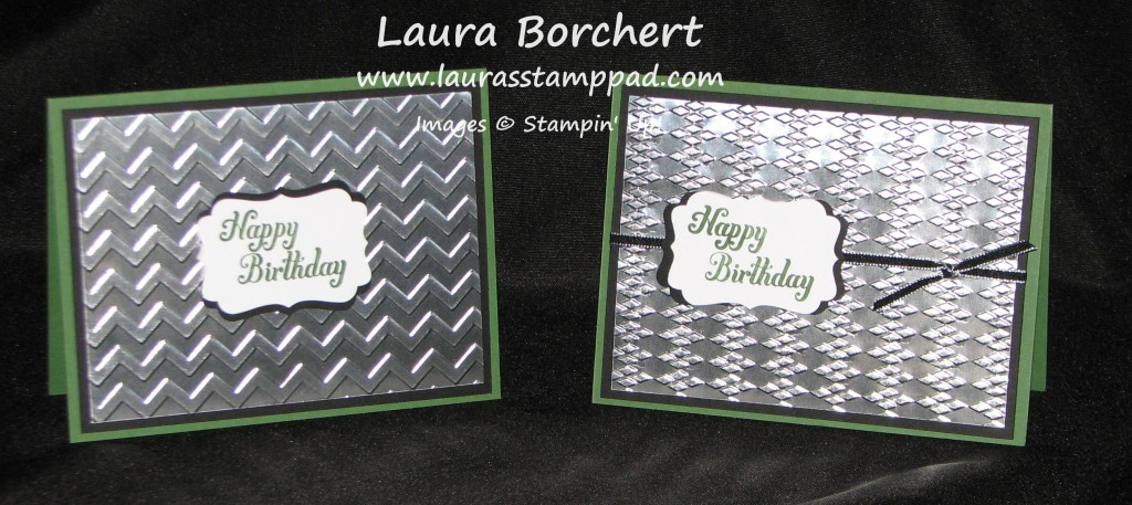 Embossed Foil - Man Card, www.LaurasStampPad.com