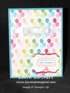 Birthday Basics Card, www.LaurasStampPad.com