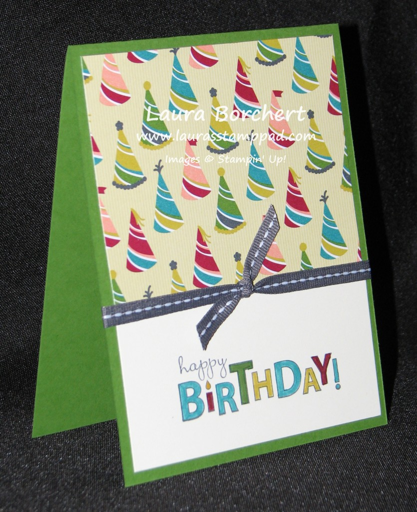 Birthday Basics & Bring On The Cake, www.LaurasStampPad.com