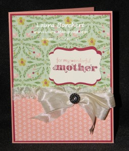 Mother's Day Card with Birthday Basics DSP, www.LaurasStampPad.com