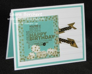 Shaker Card with Washi Tape