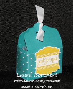 Tag Topper Punch Treat Box, www.LaurasStampPad.com