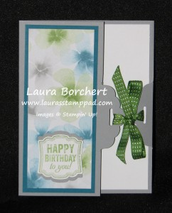 Tag Topper Punch Closes Card, www.LaurasStampPad.com