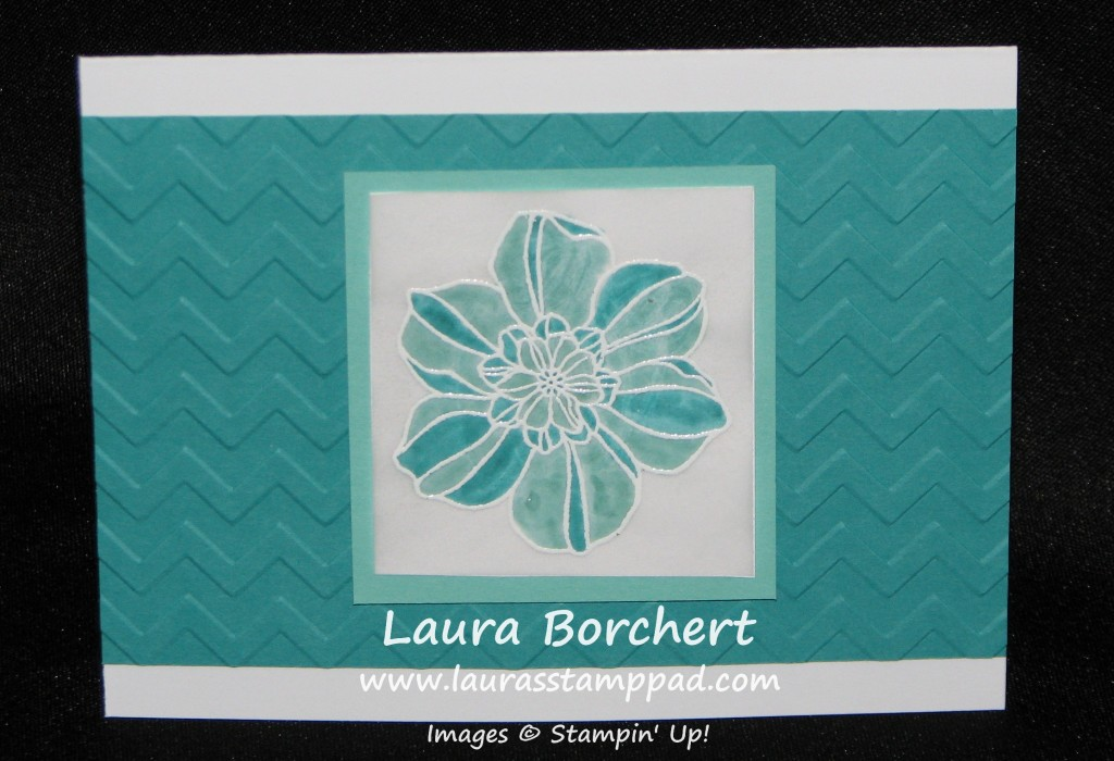 Bermuda Bay Stained Glass Flower, www.LaurasStampPad.com