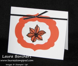 Black Flower Stained Glass Card, www.LaurasStampPad.com