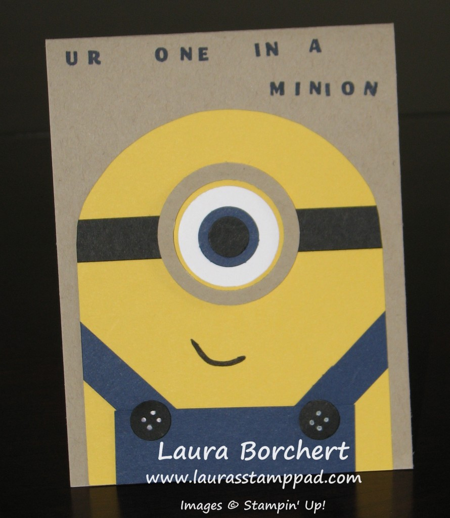 One in A Minion Anniversary Card, www.LaurasStampPad.com