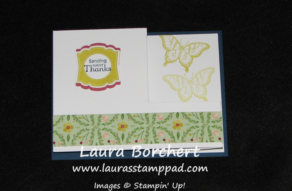 Pull Out Card Papillion Potpourri, www.LaurasStampPad.com