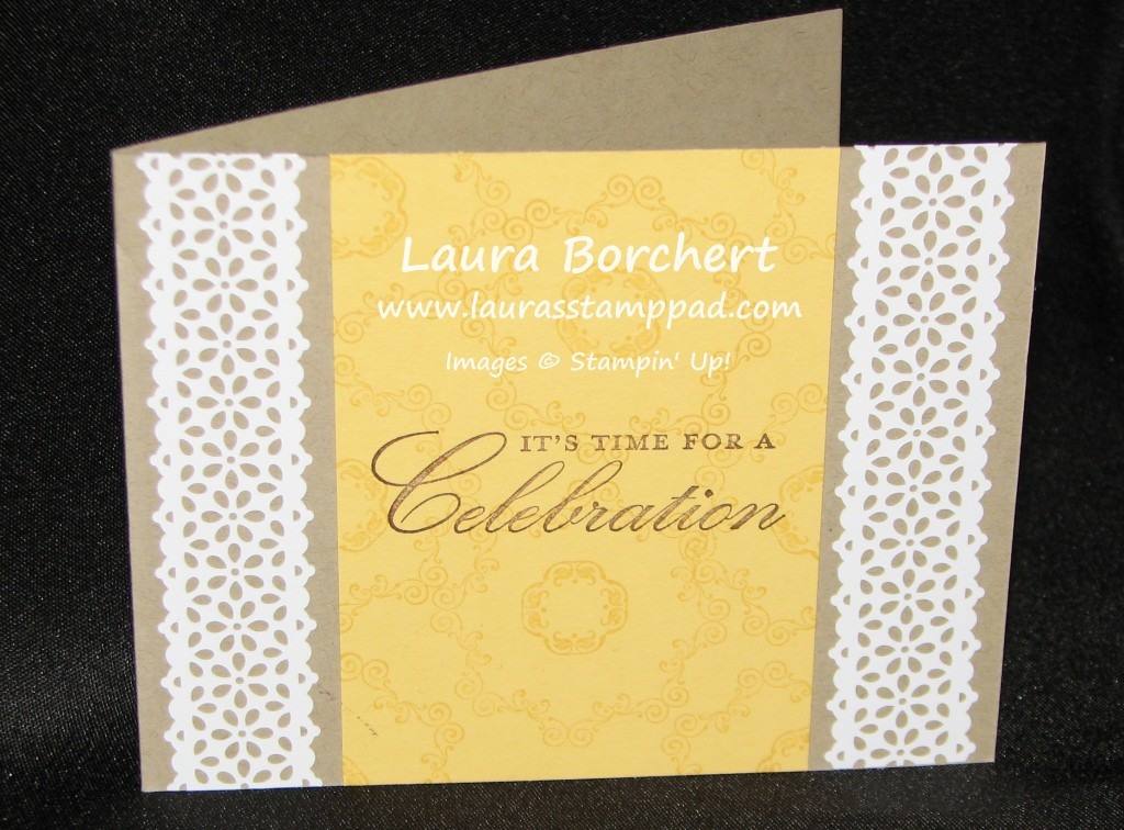Bridal Shower, lace, Elegant, www.LaurasStampPad.com