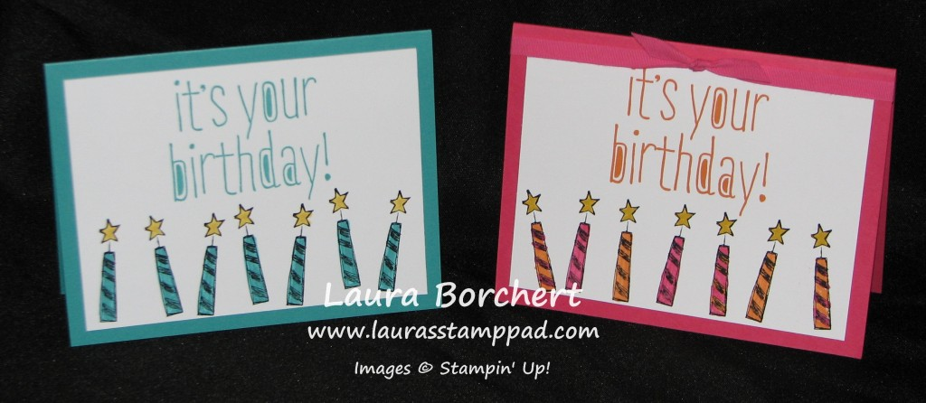 Big New Birthday Candle, www.LaurasStampPad.com