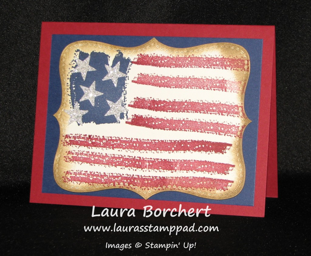 Flag Work Of Art, www.LaurasStampPad.com
