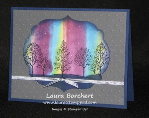 Northern Lights Technique, www.LaurasStampPad.com