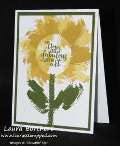 Sunflower Work of Art, www.LaurasStampPad.com