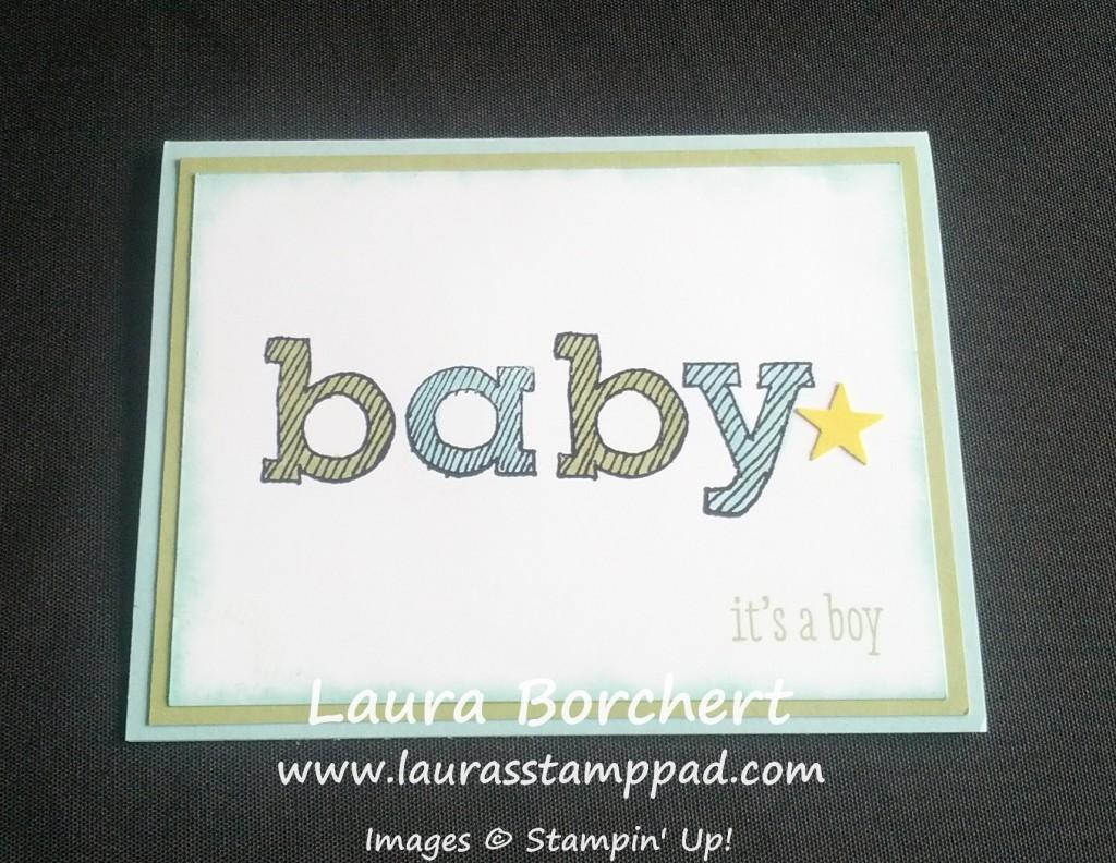 Epic Baby Card, www.LaurasStampPad.com