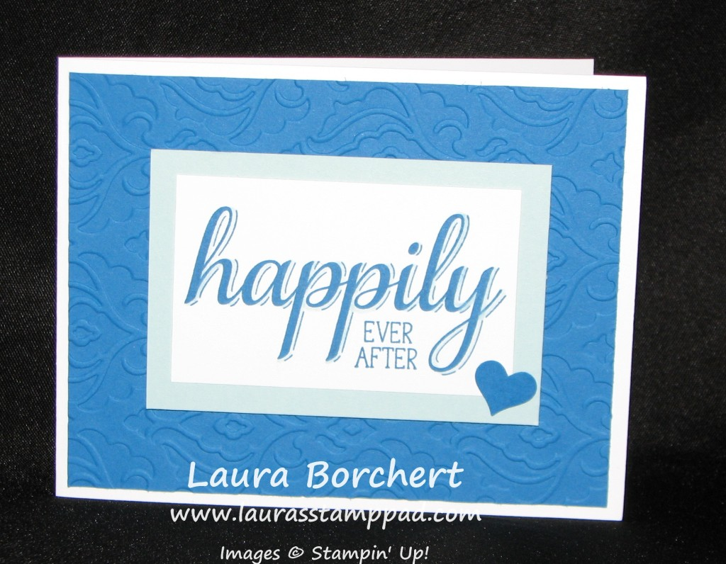 Big New Wedding Card, www.LaurasStampPad.com