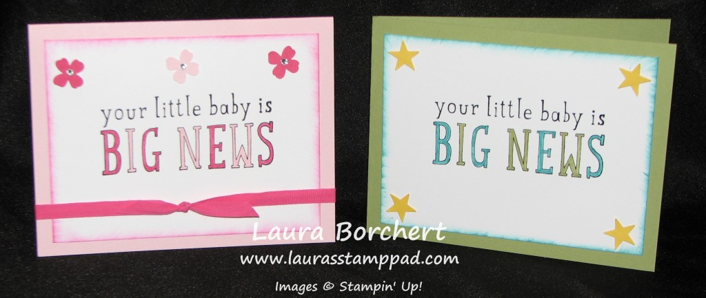 Big New Baby Cards, www.LaurasStampPad.com
