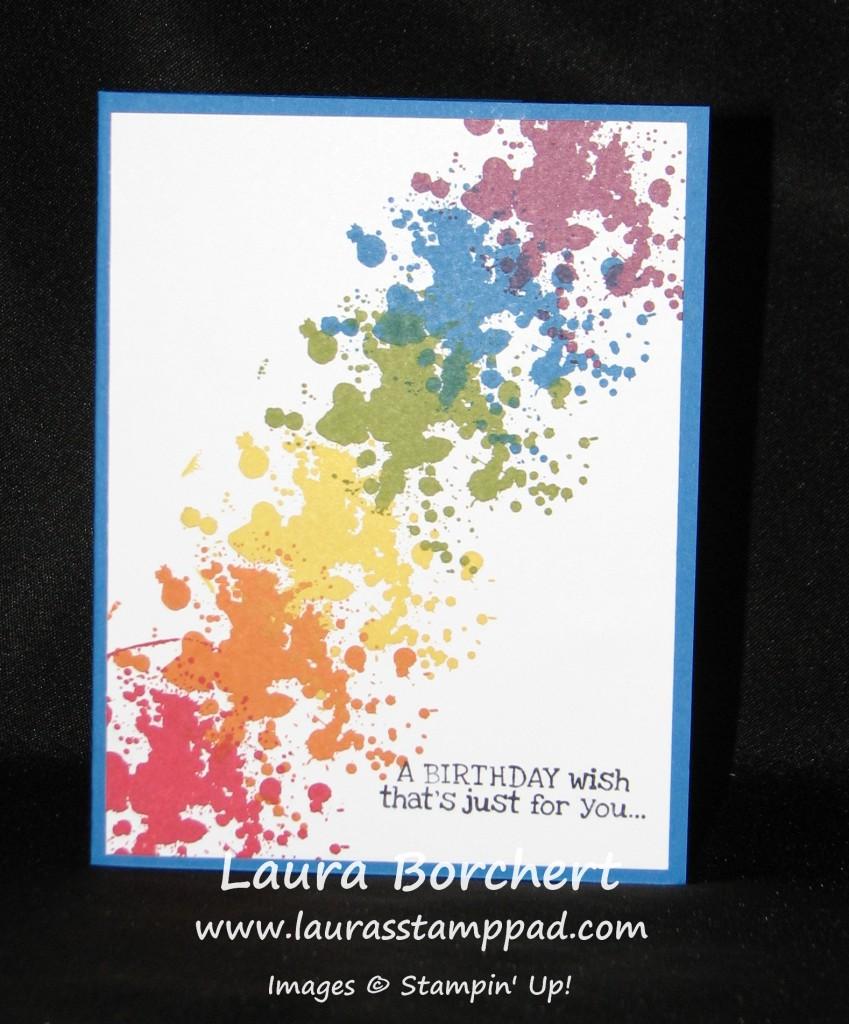 Rainbow Gorgeous Grunge, www.LaurasStampPad.com