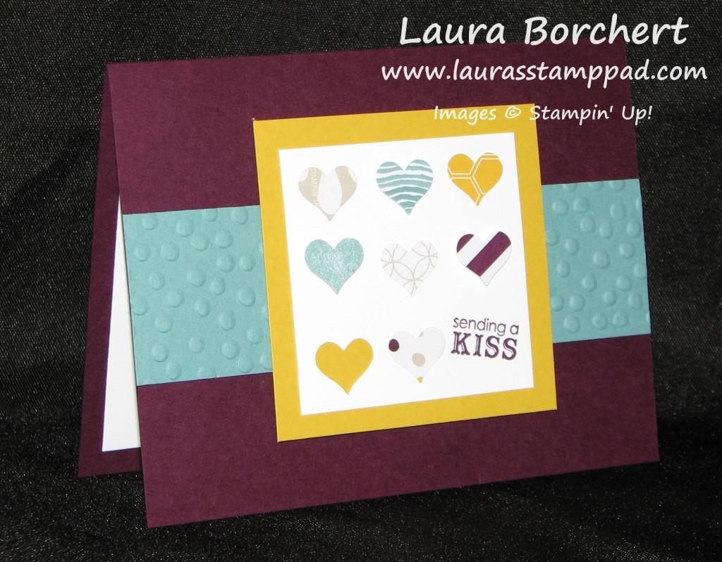 Sending A Kiss, Heart Punch, www.LaurasStampPad.com