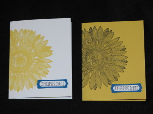 Sunflower Cards Wedding Suite, www.LaurasStampPad.com