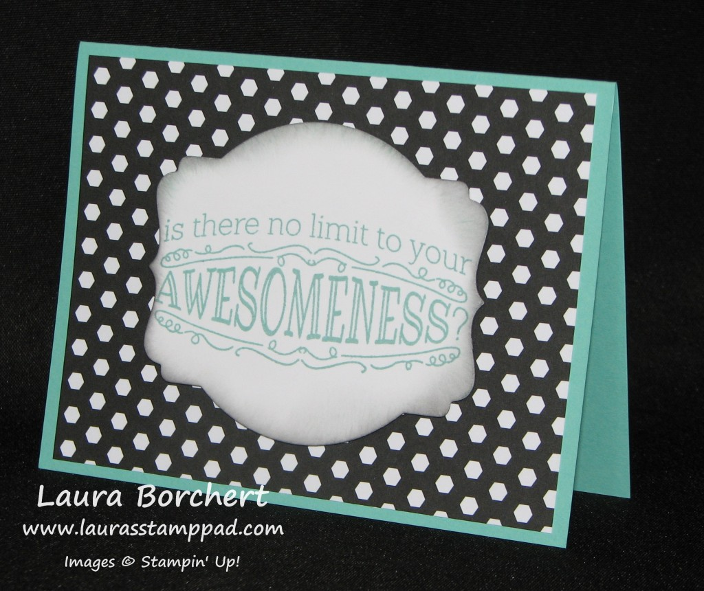 Big News Awesome Card, www.LaurasStampPad.com