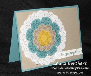 Daydream Medallion.Floral Framelits, www.LaurasStampPad.com